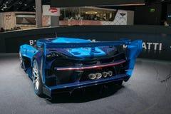 Bugatti Vision Gran Turismo - world premiere. Frankfurt international motor show (IAA) 2015. Bugatti Vision Gran Turismo - world premiere Royalty Free Stock Images