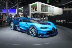 Bugatti Vision Gran Turismo - world premiere. Frankfurt international motor show (IAA) 2015. Bugatti Vision Gran Turismo - world premiere Royalty Free Stock Photos
