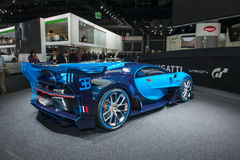 Bugatti Vision Gran Turismo - world premiere. Frankfurt international motor show (IAA) 2015. Bugatti Vision Gran Turismo - world premiere Stock Images