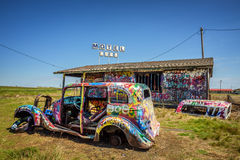 Bugg-Ranch auf Route 66 in Texas lizenzfreies stockbild
