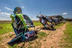 Bugg ranch på Route 66 i Texas Arkivfoto