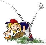 Buggad Outfielder Arkivbild