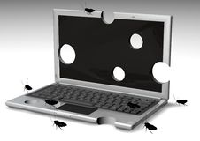 Bugged Laptops Stock Image