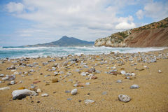 Buggerru beach in Sardinia Royalty Free Stock Images