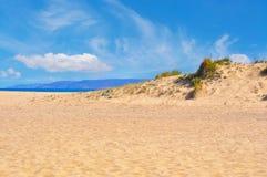 Buggerru shoreline. Sand dunes in Buggerru shoreline, Sardinia Stock Images