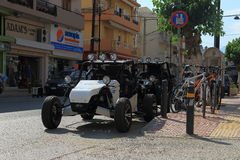Buggies and bikes Stock Images