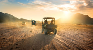 Buggies in desert Stock Image