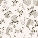 Buggies old style pattern. Stock Photos