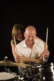 Bugging drummer Stock Images