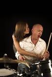 Bugging drummer Stock Photos