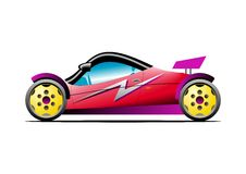 Buggy car. Red yellow sport buggy car vector illustration