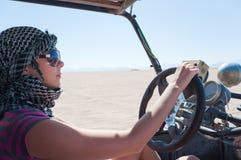 Buggy in der Wüste Stockfotografie