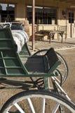 Buggy e loja ocidentais velhos Imagem de Stock