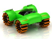 Buggy model with orange wheels Royalty Free Stock Images