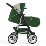 Buggy. Pram isolated Stock Image