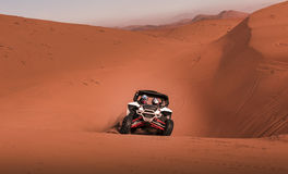 Buggy racing in the desert Royalty Free Stock Photography