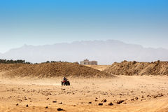 Buggy safari in Egypt. Extreme off road racing. Desert delight Royalty Free Stock Photos