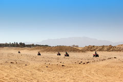 Buggy safari in Egypt. Extreme off road racing. Desert delight Royalty Free Stock Photography