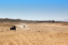 Buggy safari in Egypt. Extreme off road racing. Desert delight Stock Photos
