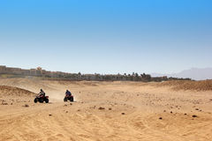 Buggy safari in Egypt. Extreme off road racing. Desert delight Stock Photo