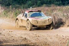 Buggy und 4x4 bei 24 Stunden TT von Frankreich Stockfotografie