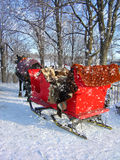 Buggy under the snow Royalty Free Stock Images