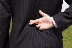 Bugia dell'uomo d'affari Fotografia Stock Libera da Diritti