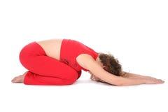 Bugia della ragazza di yoga Fotografie Stock Libere da Diritti