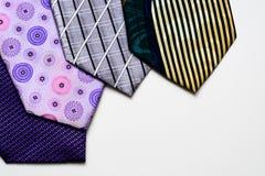 Bugia delle cravatte come un fan Fotografia Stock