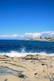 Bugibba coastline, Malta. Stock Photos