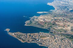 Bugibba in Malta as seen from the air Stock Photo