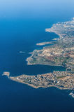 Bugibba in Malta as seen from the air Royalty Free Stock Images