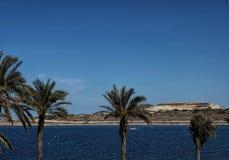 Bugibba nabrzeże w Malta fotografia stock