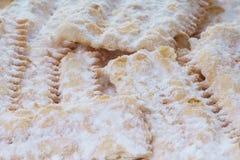 Bugie Chiacchere, итальянская еда масленицы Стоковое фото RF