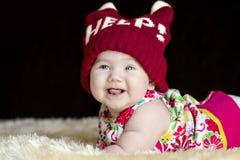 Bugie felici sveglie del bambino Fotografie Stock