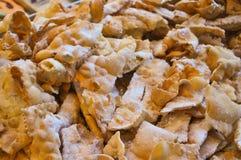 bugie het gebraden gebakjes gebakken voedsel van Carnaval fritters stock fotografie