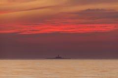 Bugio Lighthouse at sunset Stock Photography