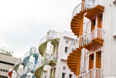 Bugis Village Colorful Spiral Staircase Royalty Free Stock Photo