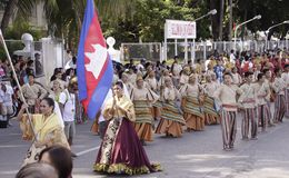 Buglasan παρέλαση χορού φεστιβάλ 2014 πολιτιστική Στοκ Εικόνες