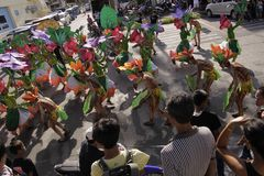 Buglasan Festival 2014 Cultural Dance Parade Royalty Free Stock Image