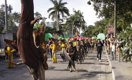 Buglasan Festival 2014 Cultural Dance Parade Stock Photography