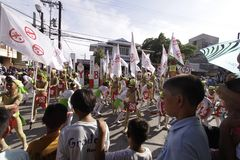 Buglasan Festival 2014 Cultural Dance Parade Royalty Free Stock Photo