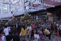 Buglasan Festival 2014 Cultural Dance Parade Royalty Free Stock Photography