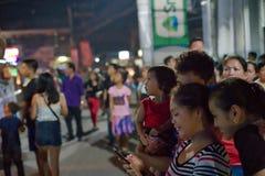 10/16/18 Buglasan-Festival Dumaguete Philippinen, die vorwärts schauen lizenzfreies stockbild
