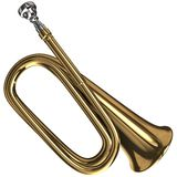 Bugle. 3d rendering of a Bugle Royalty Free Stock Images
