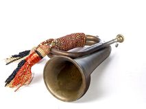 Bugle. On white Royalty Free Stock Photography