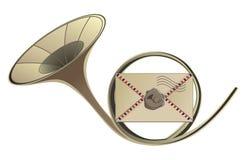 Bugle postal Imagen de archivo libre de regalías