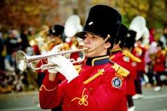 Bugler at Santa Clause Parade Royalty Free Stock Photos