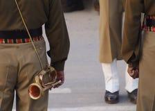 Bugler at Waga Border. Amritsar, India, Pakistan Royalty Free Stock Images