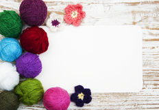 Bugne di lana di colore Fotografie Stock